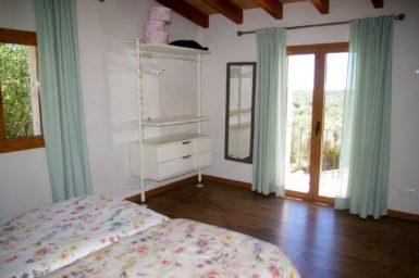 Schlafzimmer mit schönen Ausblick