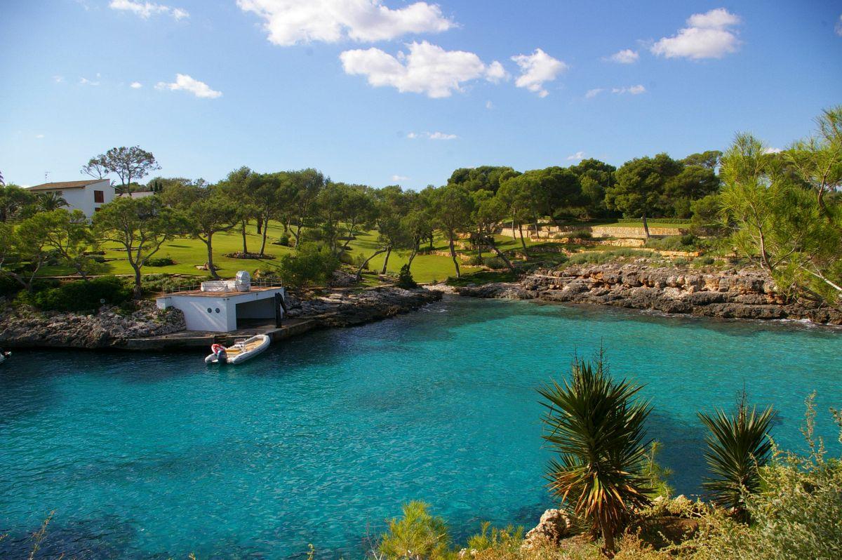 Strand Cala Mitjana im Süden von Mallorca | Wunderschöne