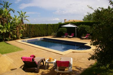 Poolterrasse der Villa Mi Quimera